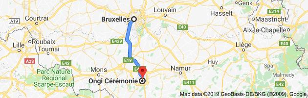 Itinéraire pour boutique de costume de mariage unique en belgique